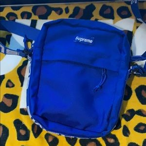 Blue supreme bag